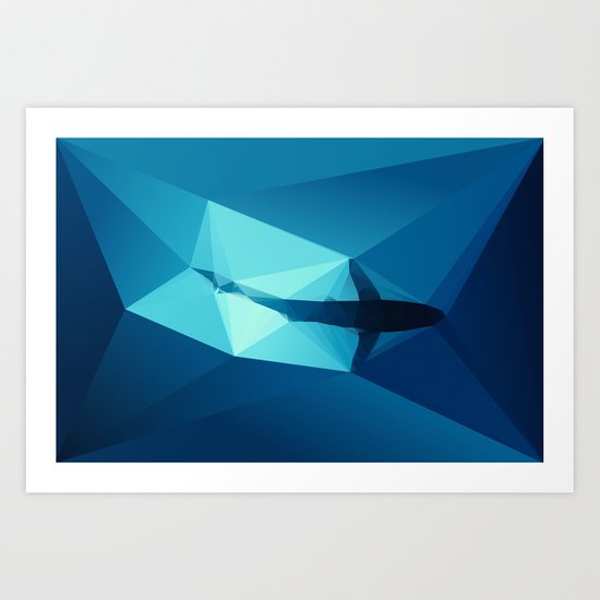 Shark Art Print By Three Of The Possessed Society6