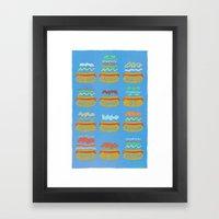 Hot Dogs! Re-do Framed Art Print