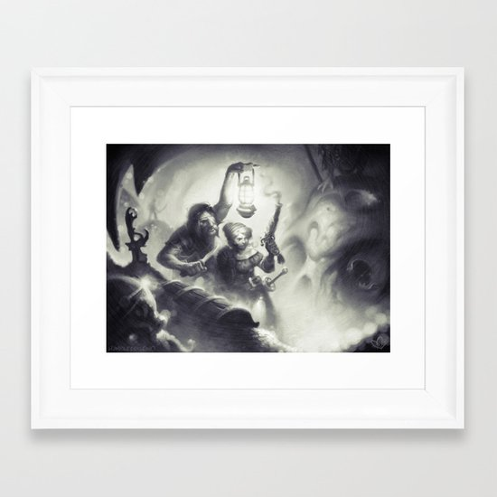 The Intruders Framed Art Print
