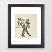 Tae Kwon Do Sparring Framed Art Print