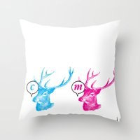 Unnatural Colors Throw Pillow