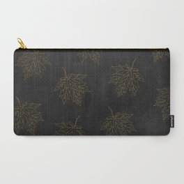 Carry-All Pouch - Autumn-world 3 - gold leaves on black chalkboard - Simplicity of life
