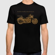 Travel Plan SMALL Mens Fitted Tee Black