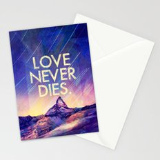 LOVE NEVER DIES for iphone Stationery Cards