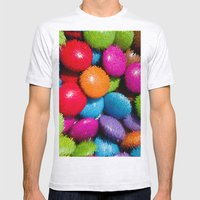 3d Abstract Mens Fitted Tee Ash Grey SMALL