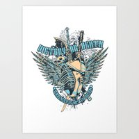Victory or death Art Print