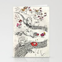 Small Animals Of Wood An… Stationery Cards