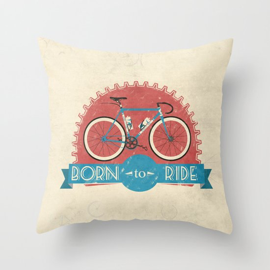 Born to Ride Throw Pillow