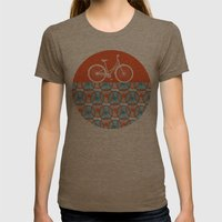 i want to ride my bicycle Womens Fitted Tee Tri-Coffee SMALL