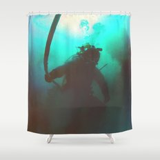 Space Boots Shower Curtain