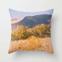 Autumn Sand Dune Throw Pillow