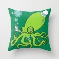 Mr.Octopus Throw Pillow