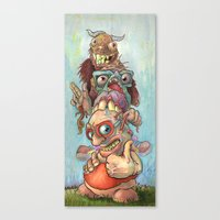 Character Totem Canvas Print