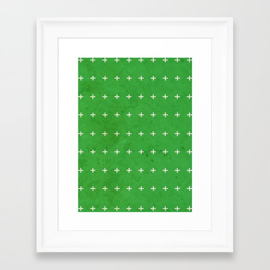 Green cross Framed Art Print