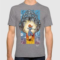 Valley of The Wind Mens Fitted Tee Tri-Grey SMALL