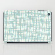 Blue Scribbles 06 iPad Case