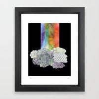 Clouds & Rainbow Framed Art Print