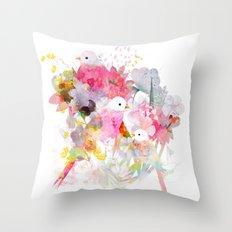 The Magical World of Birds Throw Pillow