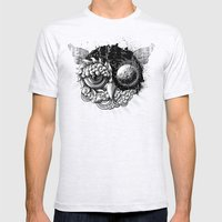 Owl Day & Owl Night Mens Fitted Tee Ash Grey SMALL