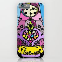 """iPhone & iPod Case featuring Colorful matryoshka- """"I love you always forever"""" by Lilach Vidal by Papercutsongs- Lilach Vidal"""