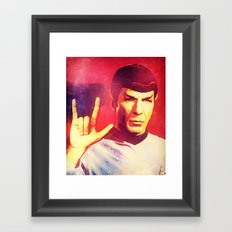 Spock Rocks Framed Art Print