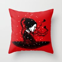 Geiko Poetry Throw Pillow