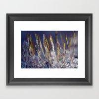 Frosted Moss 38 Framed Art Print