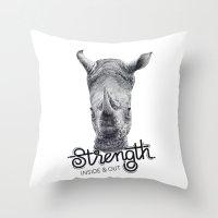 Rhino Strength Throw Pillow