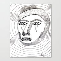 Crying Face Canvas Print