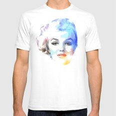 The Blond Bombshell SMALL Mens Fitted Tee White