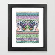 Tribal Butterfly Framed Art Print