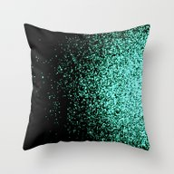 Infinity In Mint Green Throw Pillow