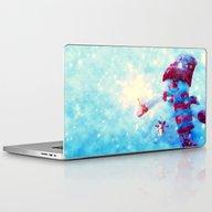 Cute Snowman Watercolor … Laptop & iPad Skin