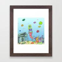 MERGURL Framed Art Print