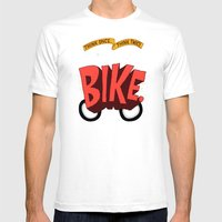 Think Once. Think Twice. Think Bike. Mens Fitted Tee White SMALL