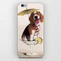 Tessi the party Beagle iPhone & iPod Skin