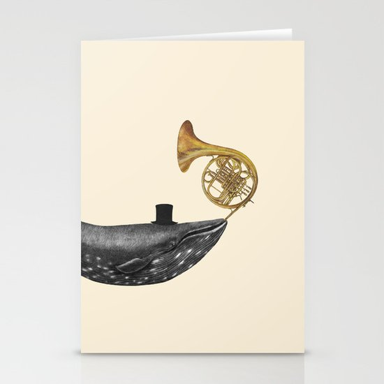 Whale Song Stationery Card