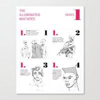 The Illuminated Mixtapes, Series 1 Canvas Print