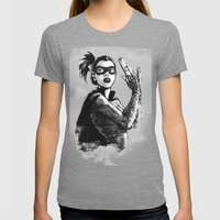 asian hitgirl Womens Fitted Tee Tri-Grey SMALL