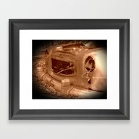 The Old Car In The Woods Framed Art Print