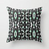 Art Deco Mint Throw Pillow