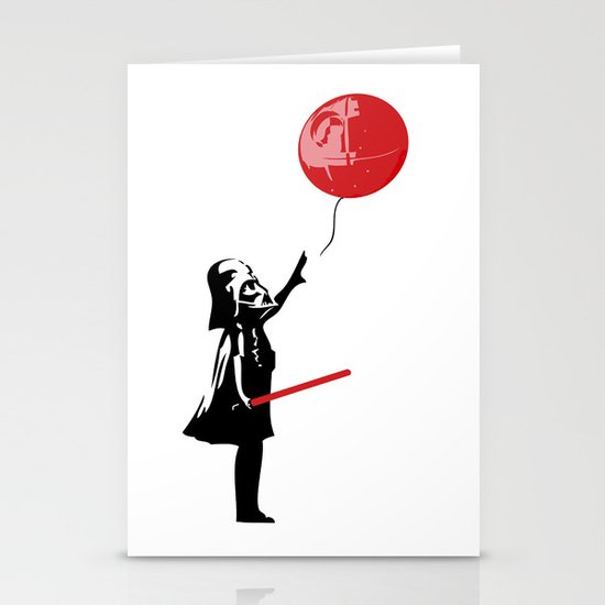 That's No Banksy Balloon (It's a Space Station) Stationery Card