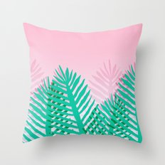 So Fine - palm springs desert plants indoor tropical oasis nature neon memphis throwback 1980s style Throw Pillow