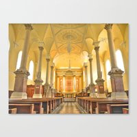 Christchurch Cathedral Interior, Waterford City, Ireland Canvas Print