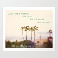 Sunshine, Sea, Air Art Print