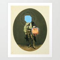 TV Man Art Print
