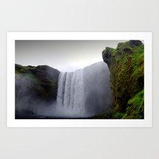 skogafoss waterfall, iceland. Art Print