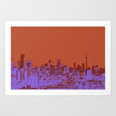 TORONTO CITY II Art Print