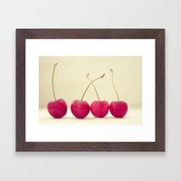 Cherry Line Framed Art Print