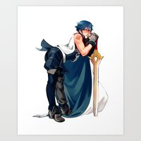 Chrom 1/7 Scaled Figure Art Print